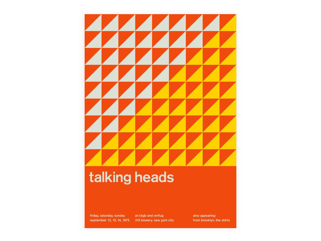 Swissted - Talking Heads Poster - Home - Decor - Artwork Print - Modern Anthology-