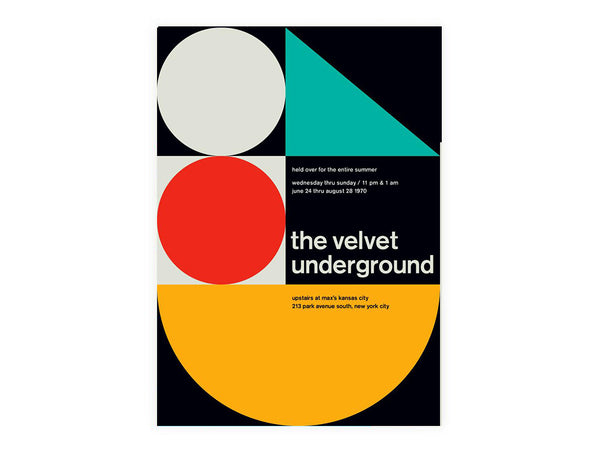 Swissted - The Velvet Underground at Max's Kansas City 1970 - Habitat - Decor - Artwork Wall Hanging - Modern Anthology-