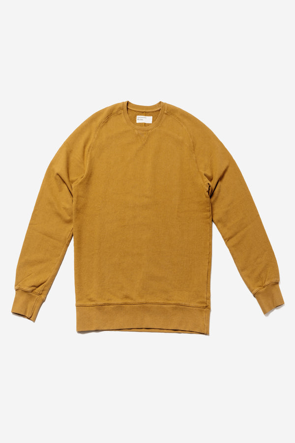UNIVERSAL WORKS - Universal Works Classic Crew Sweater Mustard - Clothing - Top - Sweatshirt - Modern Anthology-