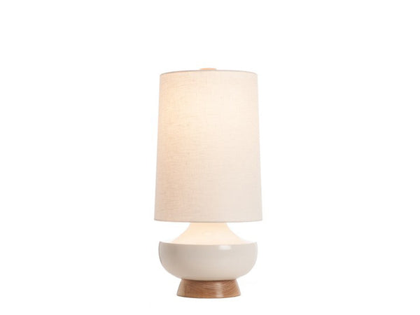 Vanderbilt Lamp, White + Maple - Caravan Pacific - Modern Anthology