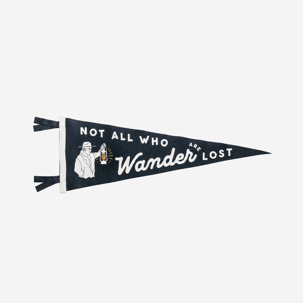 Oxford Pennant - Oxford Pennant Not All Who Wander Pennant - Habitat - Decor - Artwork Wall Hanging - Modern Anthology-