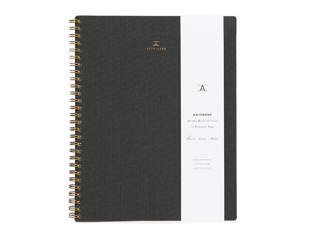 Appointed - Charcoal Notebook - Habitat - Office - StationaryPaper Product - Modern Anthology-