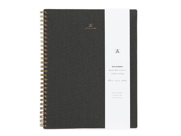 Charcoal Notebook - APPOINTED - Modern Anthology - 1