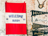 B. Blakely Customs - Welcome Buddy Banner - Home - Decor - Artwork Print - Modern Anthology-