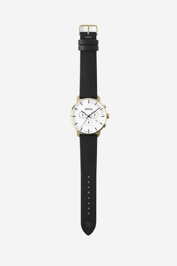 Breda - Breda Phase Chronograph White Black - Personal Accessories - Watch - Analog Watch - Modern Anthology-