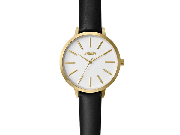 Breda - Breda Joule Watch Gold Black - Personal Accessories - Watch - Analog Watch - Modern Anthology-