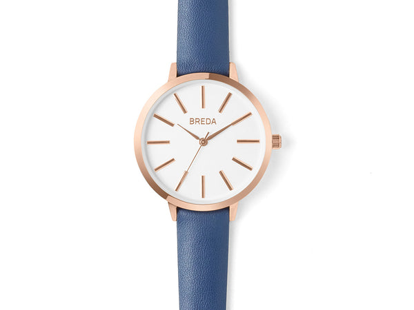 Breda - Joule Watch Rose Gold Navy - Personal Accessories - Watch - Analog Watch - Modern Anthology-