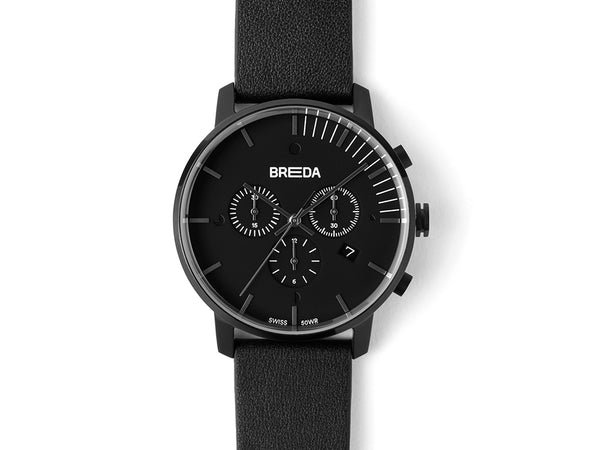 Breda - Breda Phase Chronograph Black Black - PERSONAL ACCESSORIES - Watch - Analog Watch - Modern Anthology-