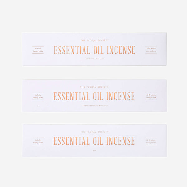 Floral Society - Essential Oil Incense - HOME - Decor - Artwork & - Wall Hanging - Modern Anthology-