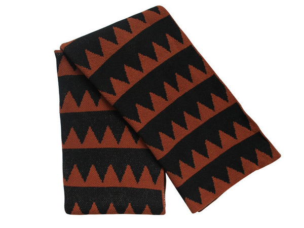 Happy Habitat - Mountain Stripes Throw Blk/Cinnamon - BEDBATH - Blanket - Throw Blanket - Modern Anthology-