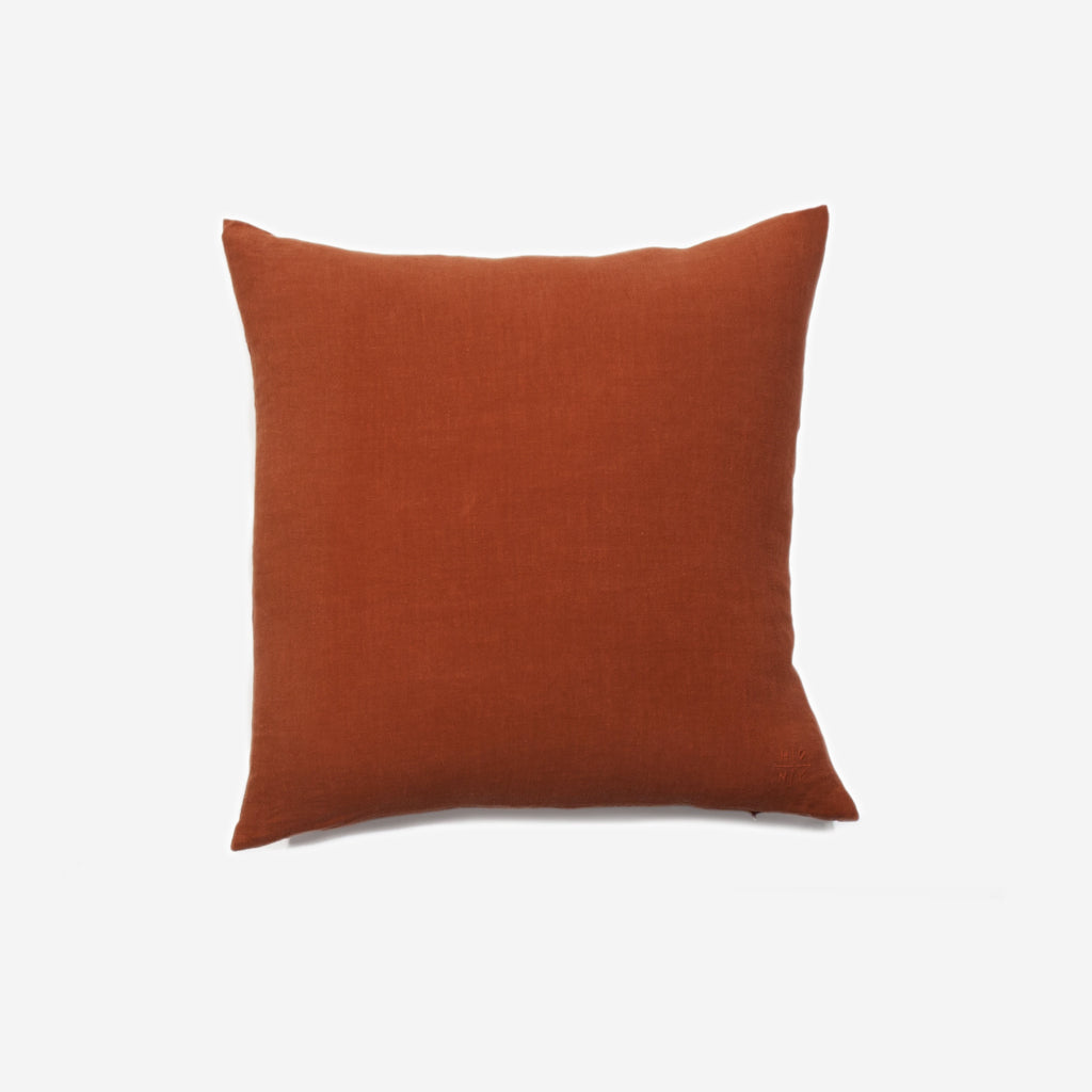 Hawkins New York - Simple Linen Pillow Rust - Habitat - Decor - Pillow - Modern Anthology-