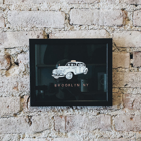 Taxi Car 8x10 Framed