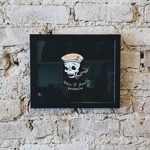 Modern Anthology - Taxi Skull 8x10 Framed - Habitat - Decor - Artwork Wall Hanging - Modern Anthology-