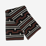 Happy Habitat - Happy Habitat Ming Cinnamon Black - Habitat - Decor - Blanket - Modern Anthology-