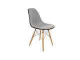 Modernica Inc - Upholstered Fiberglass Dowel Sidechair - Furniture - Seating - Armchair - Modern Anthology-