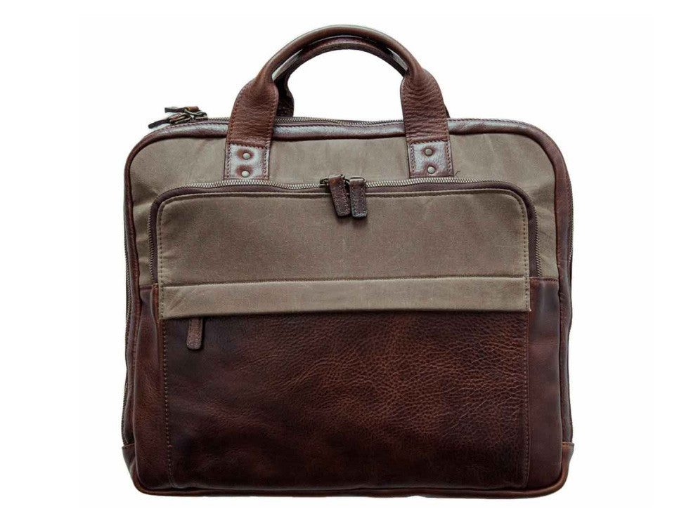 Jay Briefcase, Canvas & Leather - Moore & Giles - Modern Anthology - 1