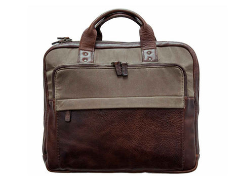 Jay Briefcase Canvas & Leather