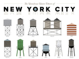 NYC Water Towers Poster - Pop Chart Labs - Modern Anthology - 2