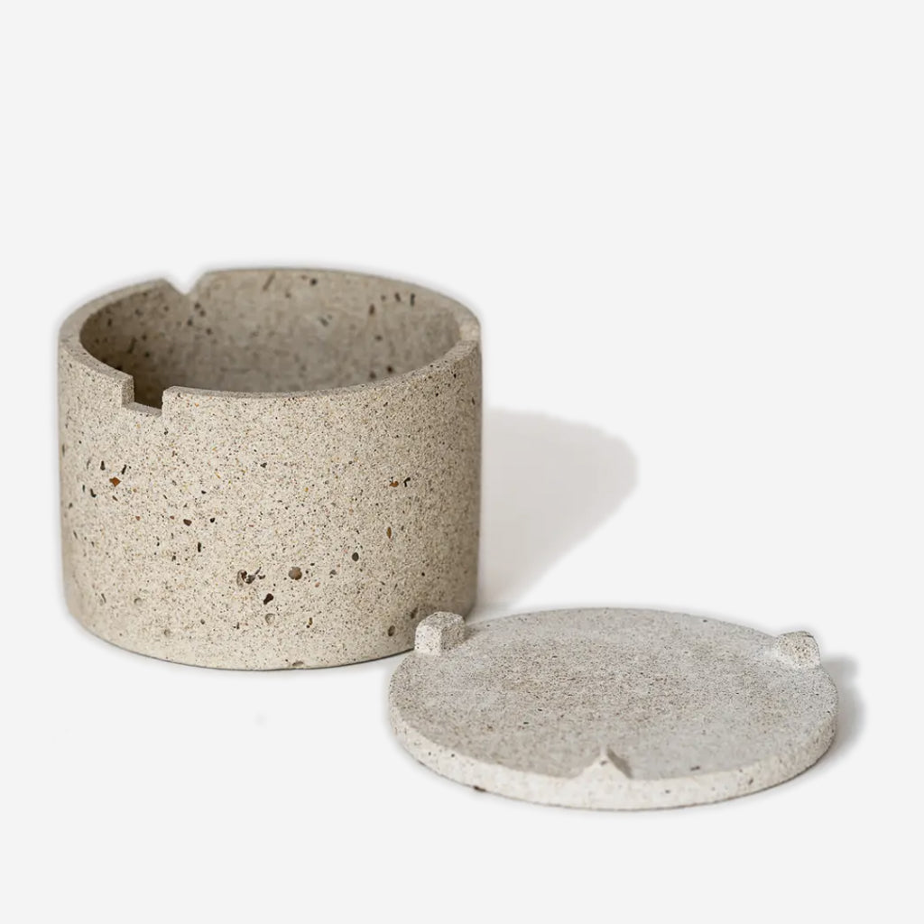 Pretti Cool - Concrete Geo Vessel Pebble - Habitat - Office - Office Accessory& - Tool - Modern Anthology-