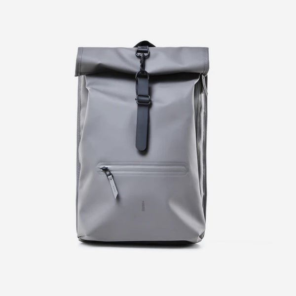 Rains - Rains Roll Top Rucksack Backpack, Grey - Personal Accessories - Bag - Backpack - Modern Anthology-