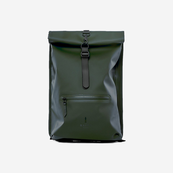 Rains - Rains Green Rolltop Rucksack - Personal Accessories - Bag - Backpack - Modern Anthology-