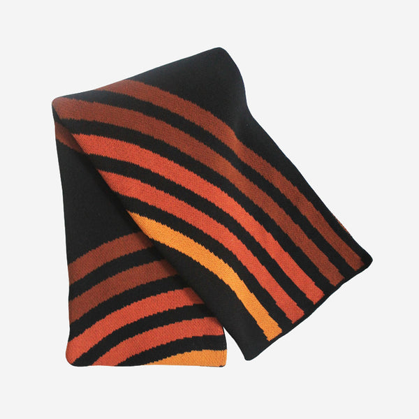 Happy Habitat - Reverb Blanket Black Cinnamon - Habitat - Decor - Blanket - Modern Anthology-