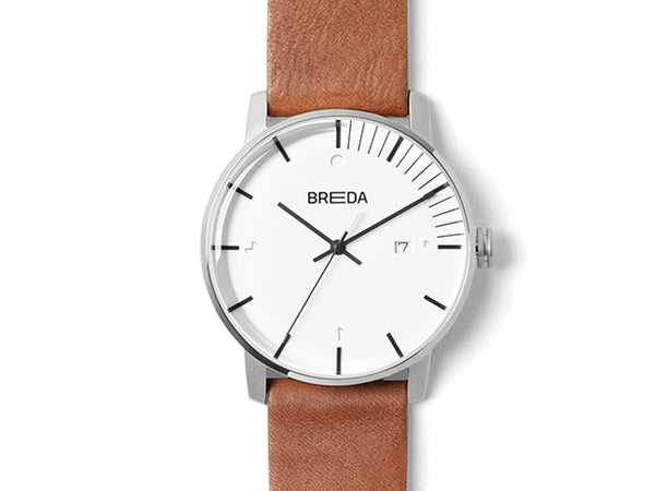 Breda - Breda Phase Watch Silver Brown - Personal Accessories - Watch - Analog Watch - Modern Anthology-