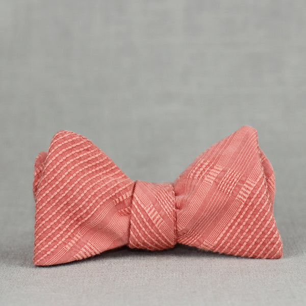 Textured coral bow tie