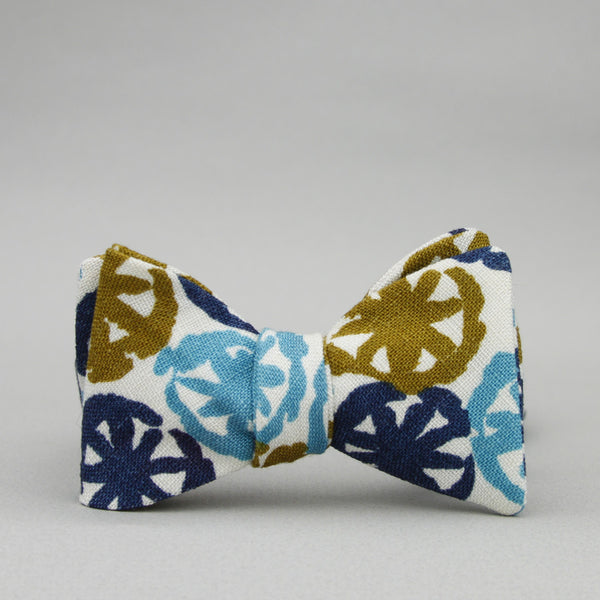 mod bow tie // turquoise, navy, & olive