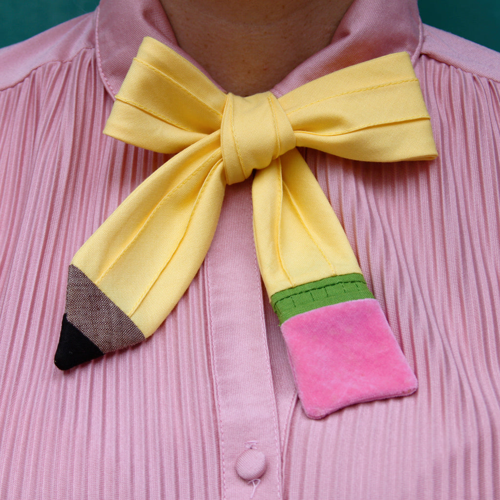 Ladies pencil bow tie