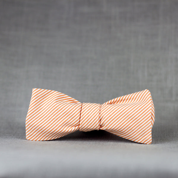 peaches & cream striped bow tie