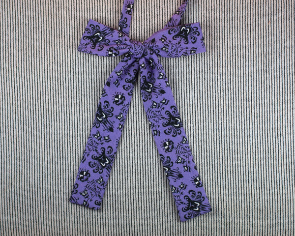 purples Haunted Mansion wallpaper pussy bow tie