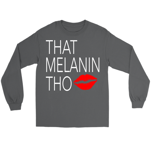 That Melanin Tho™ Sealed with a Kiss T-Shirt - Unisex Jersey Long Sleeve Tee