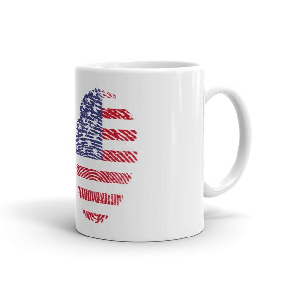 USA Fingerprint Flag Mug
