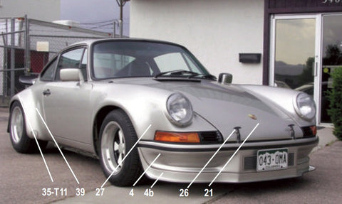 Porsche 911 RSR '73 Type Body Kit ('74-'94 Conversion)