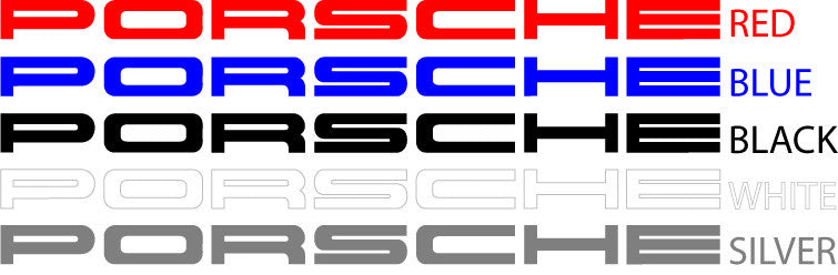 Porsche 911 Carrera Rs Decal Set Multiple Colors Bexco