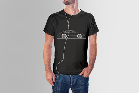 CLASSIC PORSCHE HAND DRAWN SHORT SLEEVE - DARK COLORS