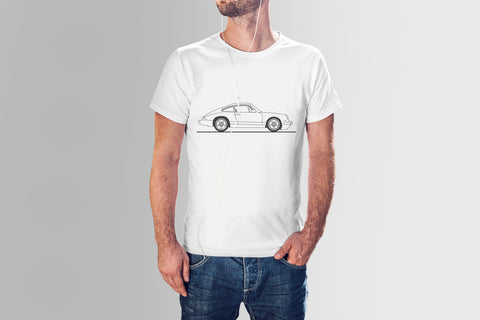 Classic Porsche Hand Drawn Short Sleeve - Light colors - Bexco Automotive