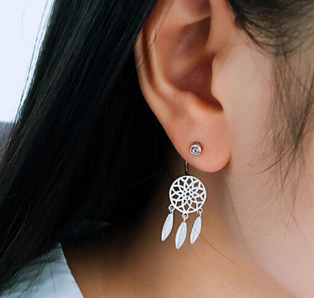 Dream Catcher 925 Sterling Silver Earrings