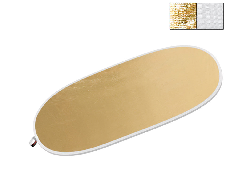 "Oval LiteDisc® White/Gold 41""x71"""