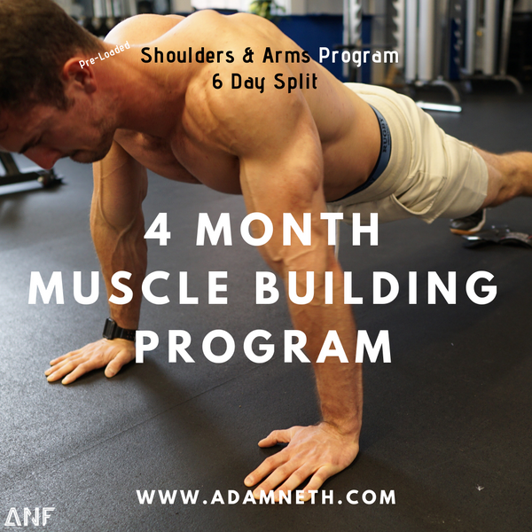 6 Day Workout Mesocycle for Hypertrophy (4 Months)