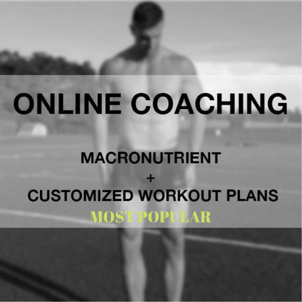 Monthly Online Coaching - Macronutrient & Customized Workout Plans