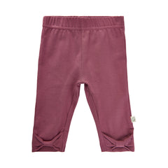 Leggings með slaufu - Crushed Berry