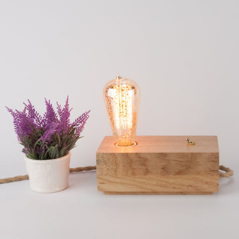 Wood Block Lamp