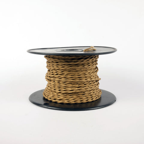 Twisted Cloth Covered Wire - 20 Gauge