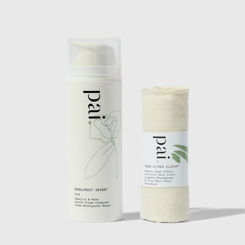 Pai Skincare Cleanser Middlemist Seven Camellia & Rose Gentle Cream Cleanser + Dual Flyer Cloth