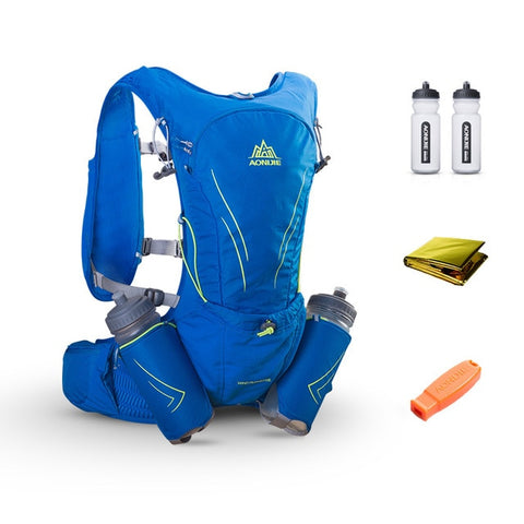 Image of AONIJIE 15L Large Running Bag With 2Pcs 600ml Bottles  Hydration Vest Pack - Fitness Gear
