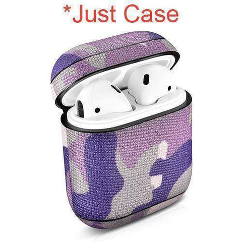 Camouflage Leather Case For Apple Airpods Airpod Dust-proof Protective Cover - Fitness Gear