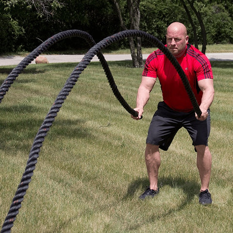 "1.5"" DIAMETER 30' Fitness Training Rope - FitnessGearUSA.Com"