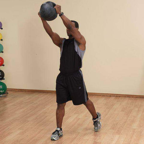 Image of 10lb. Dual Grip Medicine Ball - Fitness Gear